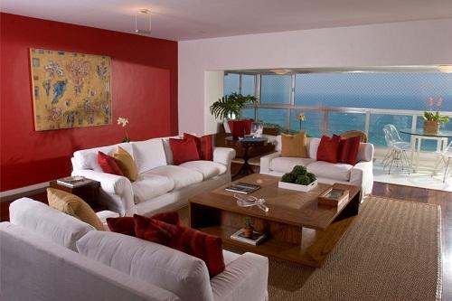 Decoracao De Sala Vermelha ~ Globo  A influência das cores na decoração